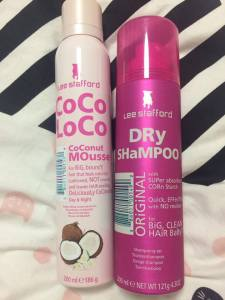 Lee Stafford dry shampoo and mousse