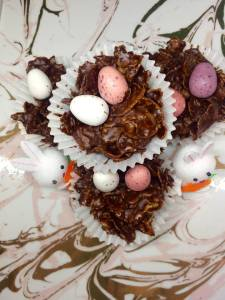 dark chocolate and orange cornflake cakes