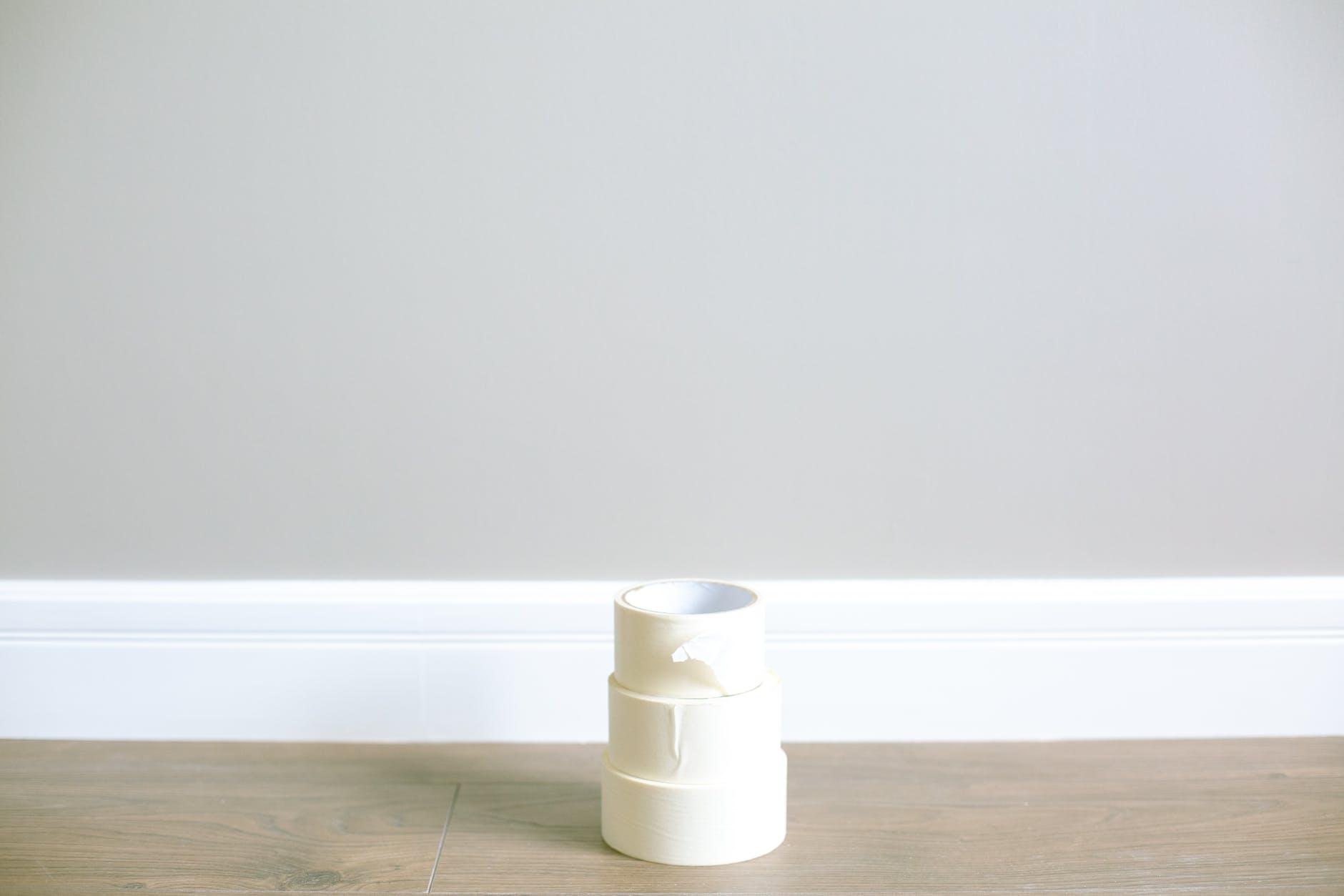 photo of a white masking tape