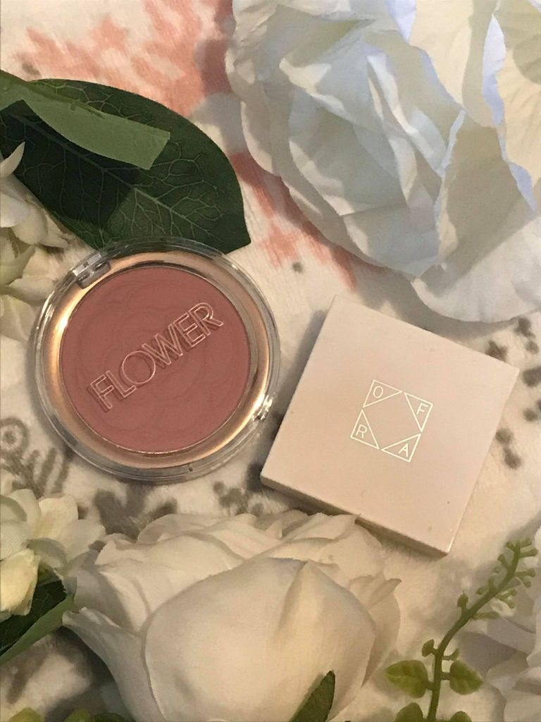 flower beauty blusher, ofra highlighter in rodeo drive